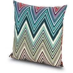 Missoni Home Kew Outdoor Cushion - 100 - 40x40cm (265 CAD) ❤ liked on Polyvore featuring home, outdoors, outdoor decor, multi, garden decor, tropical outdoor decor, outdoor patio decor, outdoor garden decor and missoni home