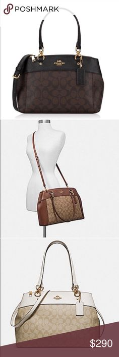 Coach NWT Large Brook Carryall Signature Canvas -     New With Tags 100%  Authentic f0a28d6fc95c7