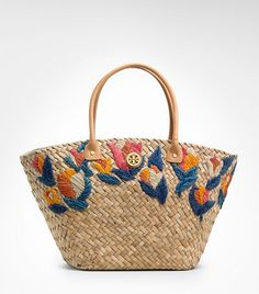 So cute I am sure I could pick up a cheep straw bag and do the embroidery myself.