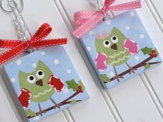 personalized mini canvas ornaments