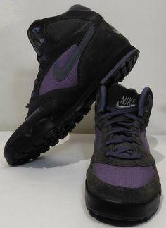 Vtg Nike Caldera Outdoor Hiking Boots Shoes Womens Size 10 Gray Purple #185008  #Nike #Hiking