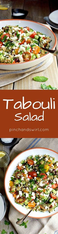 Tabouli salad is a classic Levantine dish (also spelled tabbouleh and tabouleh), a vegetarian salad that is loaded with flavor and texture. From crisp cucumber, sweet tomatoes, briny olives and bright parsley, every bite is a little different. Bulgur whea