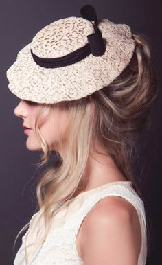 updo hairstyle for hat - Madrugar by Katharine Wallinger