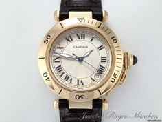 Cartier PASHA MEDIUM 35 MM GELBGOLD 750 AUTOMATIK