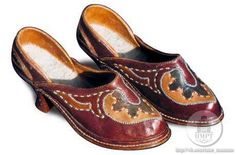 Women's shoes. Leather mosaic. Early XX century.
