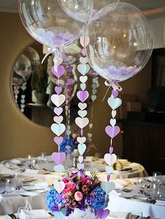 Giant Wedding Balloons with Tassel Tails