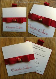 Red rose wallet Wedding invitation  www.jenshandcraftedstationery.co.uk www.facebook.com/jenshandcraftedstationery