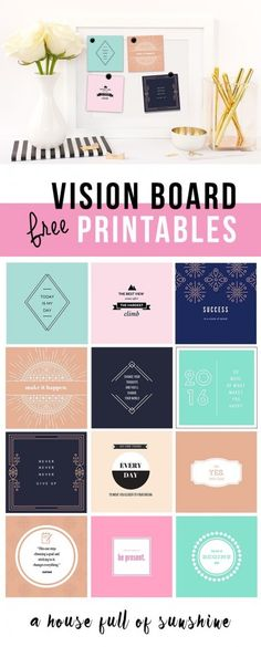 I see lots of talk of vision boards on social media. If it's something you've been contemplating, but didn't know where to beginthen checkout these free vision board printables. It's a great place to start for inspiration! Click here to get these FREEVision Board Printables from A House Full of Sunshine.