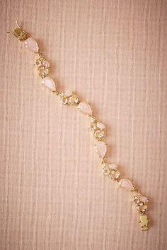 Rose Quartz Bracelet by BHLDN   ||  Perfect Wedding or Bridesmaid Bracelet ||  Follow @KWHBridal