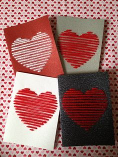 Valentinstag Ideen Valentinstag Karten Handwerk Thread Source by Valentines Day Decorations, Valentine Day Crafts, Happy Valentines Day, Holiday Crafts, Valentine Ideas, Diy St Valentin, Valentines Bricolage, Valentine's Day Diy, Homemade Cards