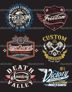 Векторные тематические Badge старинных мотоциклов — стоковая иллюстрация #29290479