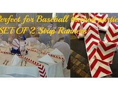 ORIGINAL Baseball Party Centerpiece Red Chevron Modern Wedding | Etsy