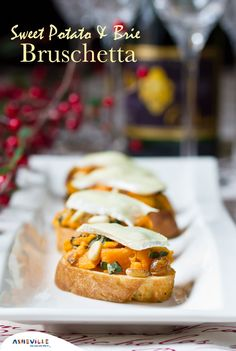 Sweet Potato and Brie Bruschetta | ExploreAsheville.com #appetizers #sweetpotato #recipe