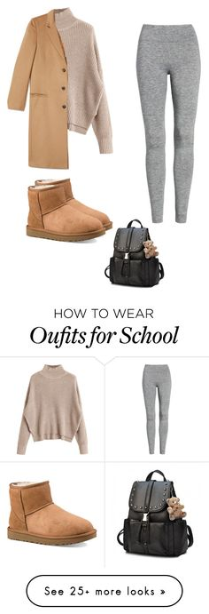 """""""School outfit"""" by cherolxcreations on Polyvore featuring UGG and Treasure & Bond"""