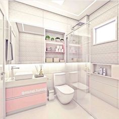 Pastel Bathroom, Small Bathroom, Dream Bathrooms, Dream Rooms, Bathroom Design Luxury, Home Interior Design, Small Room Bedroom, Bedroom Decor, Aesthetic Rooms