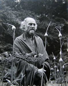 """Morris Graves in His Leek Garden"" by Imogen Cunningham, 1973"