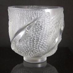 "Lalique Crystal Andromeda Vase 6"""