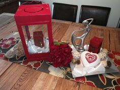 Valentines day table display.