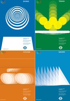 Alan Clarke has designed some lovely proposed posters for the 2012 Olympics in London.
