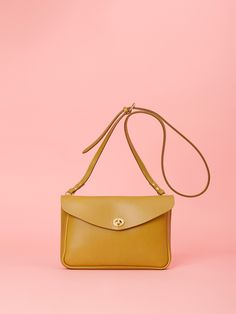 7e61445113 Small olive shoulder bag made from the finest vegetable tanned leather.