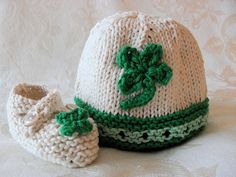 St. Paddy's Day Knitted Irish Baby Hat Baby por CottonPickings