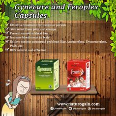 Feroplex and Gynecure Capsules - Herbal Treatment for Irregular Periods