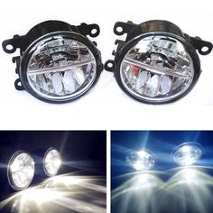 (37.63$)  Buy here - http://aik67.worlditems.win/all/product.php?id=32665771988 - Car styling led Fog Lights For Citroen C-Crosser (EP_) Closed Off-Road Vehicle 2007-2013 fog lamps 10W DRL 1SET
