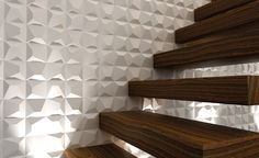 Horizon Italian Tiles presents WOW; A contemporary and architectural vision of traditional ceramic for wall cladding, backsplash tiling in Dallas, DFW area. Wall Cladding Tiles, 3d Wall Tiles, Modern Staircase, Staircase Design, Wood Like Tile, White Porcelain Tile, Ceramic Tile Bathrooms, Italian Tiles, Outdoor Tiles