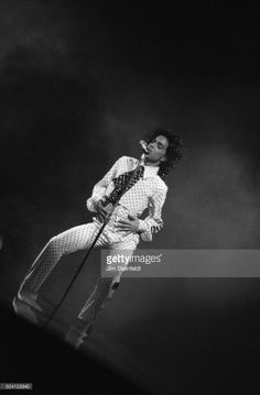 Prince performs during the Lovesexy Tour at the Met Center in Bloomington, Minnesota on September 14, 1988.