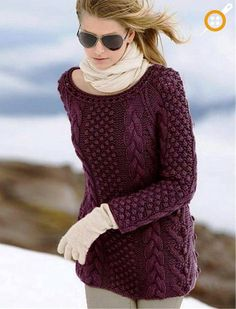 Ladies Looking At Which Models When Choosing A Sweater - beautiful sweater models Cable Sweater, Poncho Sweater, Cardigan Sweaters For Women, Cardigans For Women, Jumper, Moda Emo, Form Crochet, Cool Sweaters, Knitting For Beginners