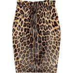 Valentino Leopard-print calf hair pencil skirt