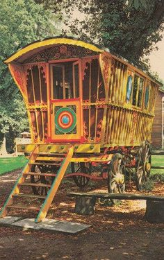 Caravan Gypsy Vardo Wagon:  I WANT one of these in my back yard for an artist studio. That would be so awesome! :-)