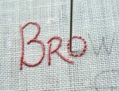 Wow..great tutorial's! Hand Embroidered Lettering and Text Tutorial on www.needlenthread.com