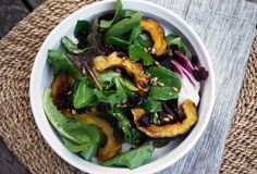 Roasted Acorn Squash Salad: Perfect Thanksgiving salad recipe