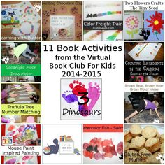 Virtual Book Club Post from 2014-2015 - 11 great book activities plus links to other book activities - 3Dinosaurs.com