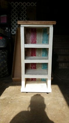 Love this pallet wood shelf we made for my mom! ~ The Hope Chest ~ (woodwork, furniture restoration & art)