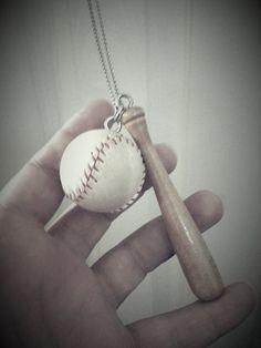 Baseball sports necklace by PokeysWorld on Etsy, $12.00