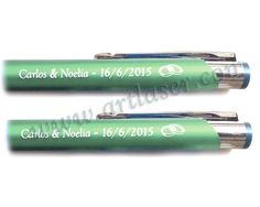 Bolígrafo de metal personalizado.