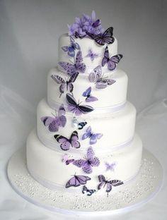 Tortas para Bodas con Mariposas 18