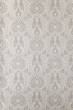 """""""Renaissance"""" by Farrow & Ball: Sunflowers and birds make this pattern a bit whimsical. Available in 10 colourways."""