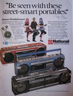 National boom box ad - 1985 by ✎☁Iron Lace☁✎, via Flickr