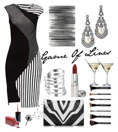 """""""Game of Lines"""" by felicitysparks ❤ liked on Polyvore featuring Lattori, Art Addiction, Elena Ghisellini, Bling Jewelry, It Cosmetics, Kenneth Jay Lane and Eva Solo"""