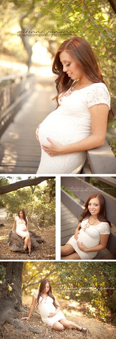 Maternity posing ideas for just the mama. Good for Military moms, and single moms. >> McKenna Pendergrass Photography #maternity #baby #bump #couples #outdoor #whimsical #lace #bridge #photography #McKennaPendergrass