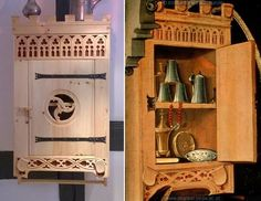 Renaissance Furniture, 15th Century, Dollhouse Furniture, Cupboards, Larp, Household Items, Woody, Planer, Wood Crafts