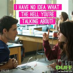 the duff images, image search, & inspiration to browse every day. The Duff Movie, Fat Friend, In Theaters Now, Good Movies, Awesome Movies, Out Loud, Movie Quotes, Movies And Tv Shows, Movie Tv
