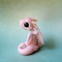 Rose Quartz Bitty Dragon by BittyBiteyOnes on DeviantArt