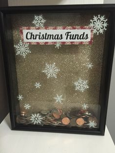 Kylie's Christmas diy shadow box money saver
