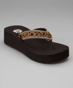 Take a look at this Cheetah Wilda Flip-Flop by Yellow Box Shoes on #zulily today!