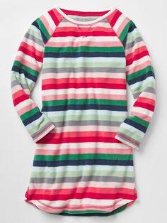 Printed microfleece nightgown | Gap