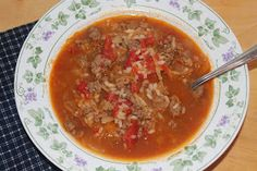 Savory Moments: Cabbage roll soup